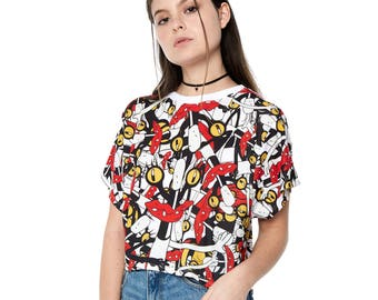 Oblina (Aaahh!!! Real Monsters) Cropped Tee