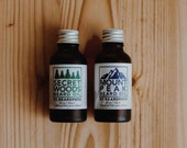 Natural BEARD OIL Kit | Woodsy and minty scents | birthday gift set for him | Organic Vegan Beard Moisturizer and  Conditioner