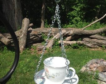 Tea Cup Bird Feeder/Bath