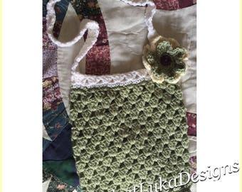 Handmade crocheted purse bag tote