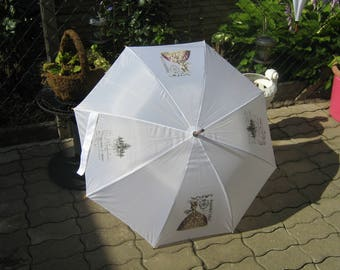 Super cool stock screen in white with motif * VINTAGE LADY *.