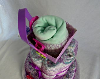Great for baby girl diaper cake