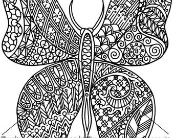 Butterfly Insect Zentangle Coloring Page