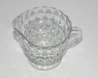 Vintage, Depression Glass, Jeannette Glass, Cubic pattern, Creamer, Kitchen Dishes, Excellent condition, Cube