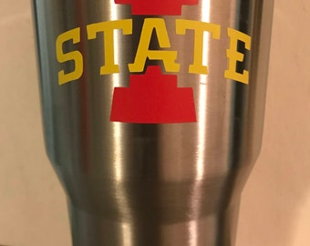 Personalized Tumbler 30 oz, Iowa State Cup, Team cup, Personalized Cups
