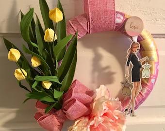 Baby Shower Wreath, Expectant Mother, Spring, Congratulations, Home Decor, Door Wreath, Nursery