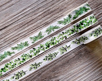 Spring washi tape,Green Leaves washi tape,flower washi tape,Japanese Washi Tape