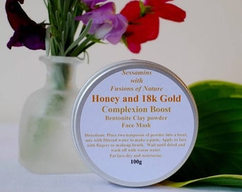 Honey & 18k Gold Clay Face Mask 100g