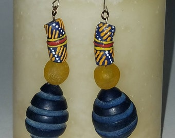 Trade bead earrings