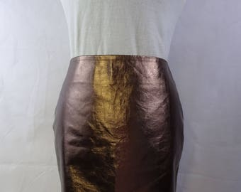Metallic Bronze Pencil skirt
