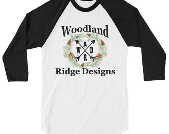 Woodland Ridge Design 3/4 sleeve shirt