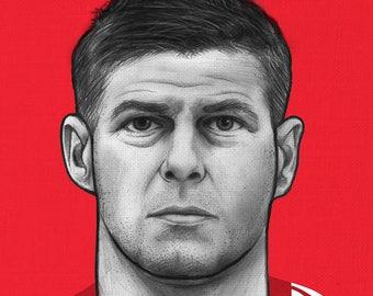 Steven Gerrard - Liverpool - Illustration