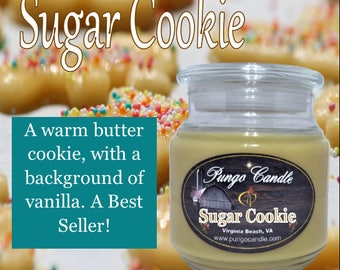 Sugar Cookie Scented Jar Candle (16 oz.)!