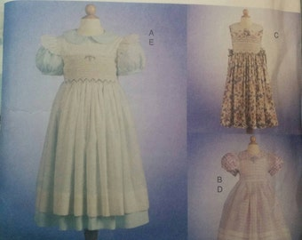 Teresa Layman 7593 Girls Smocked Dress Pattern