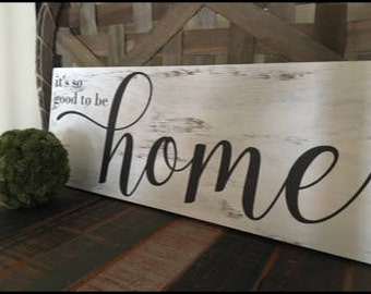Handcrafted wood sign