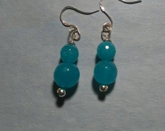 Dyed Faceted Jade Drops