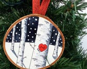 Our First Christmas Ornament, Personalized, Newlywed Ornament, Couples Ornament, Christmas Ornament, Newlywed Gift, Couples Ornament