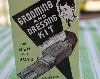 Vintage Men's Grooming & Dressing Kit - Retro - Retro decor