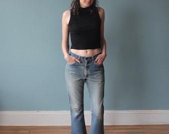 vintage levis bellbottom jeans | flared leg levi jeans | 1970s small