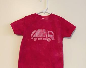 Garbage Truck Shirt, Kids Truck Shirt, Boys Garbage Truck Shirt, Red Truck Shirt, Girls Truck Shirt, Boys Truck Shirt, Truck Birthday (4T)
