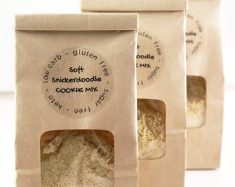 LOW CARB Soft Snickerdoodle Cookies Mix - cinnamon sugar cookie mix - low carb, gluten free, sugar free, keto cookies