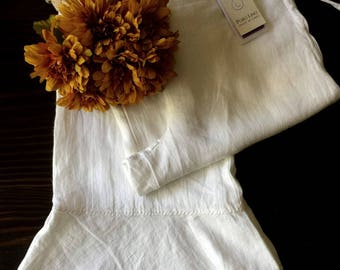 White Linen Pants, Upcycled Linen Pants, Summer Linen Pants, Bridal Linen Pants, Italian Linen Pants