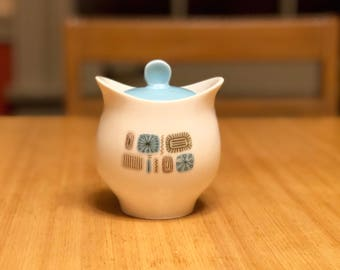 Temporama Sugar Bowl, Cannonsburg Pottery Ceramic, mid Century Modern Dining Room