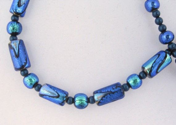 Dichroic dream necklace: charity donation