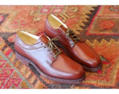 vintage Champion men's shoes / brown leather oxfords / size 8