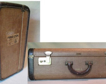 Suitcase, Eline J K Luggage, Vintage Decor, Original Key, Sturdy, Solid,