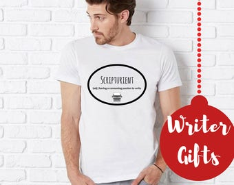 Writer Gifts- Book Lover Gifts, Literary Tshirts Scripturient Definition Shirts Book Lover Librarian gift, Author T Shirt Clothing Gifts Her