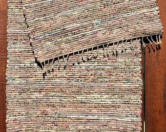 """Hand Woven Rag Rug - Cottage Garden Cotton 24"""" x 60"""""""