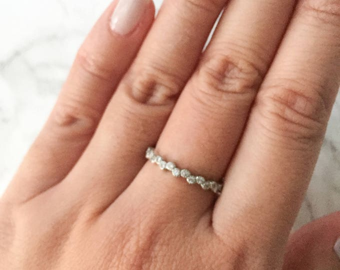 Stacking CZ Bubble Ring - Sterling Silver