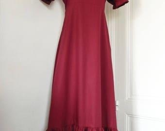 lilith Burgundy short sleeve dress