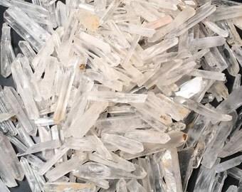 Bulk 1lb Mini Quartz Crystal Points, Bulk Wholesale Crystal Quartz Mini Points, Wholesale Bulk 1 Pound Lot Clear Quartz Crystals