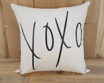 XOXO Pillow, Throw Pillows, Decorative Pillows, Pillow Covers 16 x 16, Pillows With Sayings, XOXO, Love Sayings, Valentines Day Gift, Home