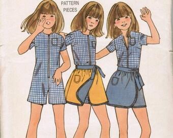 OOP Vintage Butterick 6188 Girls Pantdress & Reversible Skirt. Size 12 Uncut