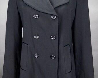 Black wool coat | Etsy