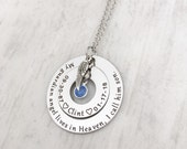 Sympathy Gift for Mother -Loss of a Son -Memorial Jewelry -Personalized Sympathy Necklace -My Guardian Angel lives in Heaven, I call him son