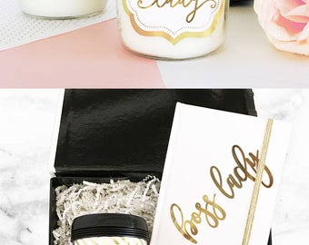 Boss Birthday Card Alternative - Boss Birthday Gift Ideas - Boss Lady Candle - Boss Christmas Gift - Boss Card CANDLE (EB3178BSL)Boss Candle
