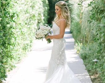 Lace Mermaid Wedding dress, Lace Wedding Dress, Mermaid Wedding Gown, Unique Wedding Dress, Bridal Dress, Custom made wedding dress