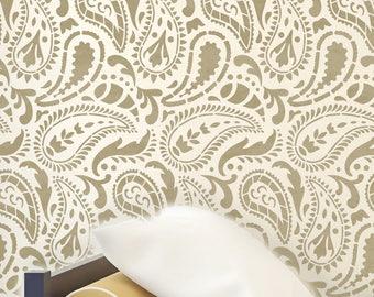 TAJ MAHAL Indian Furniture Wall Craft Stencil - Paisley Stencil - TAJM01