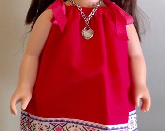 """Pretty in Pink Dress for Your 18"""" or American Girl Doll with Accessories."""