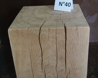 End 40 N 30 x 30 x 30 cm bedside table solid wood stool