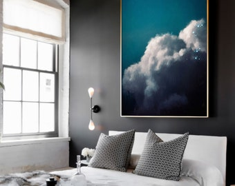 Cloud Painting, Extra Large Wall Art, Abstract Art, Large Abstract Painting, Pastel Cloudscape Art by CORINNE MELANIE ART