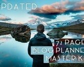 Printable blog planning kit - blog planner templates instant download - A4 perpetual set - 72 pages 60+ templates  UPDATED w/ new templates