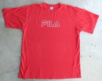Fila 90's T-Shirt Fila Tee Shirt Fila Vintage Top Fila Tshirt Fila 90s Shirt