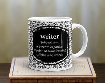Mug for Writer, Writer Definition, Writers Mug, Writer's Gift, Writers Club, Gift for Writer, Journalist Gift, Journalist Mug, Bookish Gift