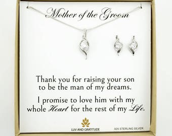 Mother of the Groom Gift, Gift for Mother of the Groom, Mother of the Groom Necklace, 925 Sterling silver, Mother of the bride gift