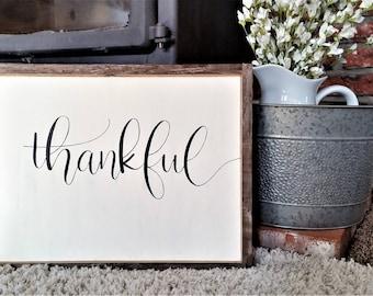 Thankful sign.